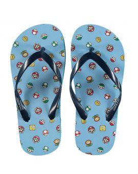 Super Mario Kinder slippers Blauw
