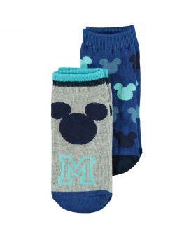 Mickey Kinder sneakersokken Blauw