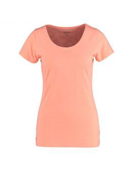 Dames T-shirt Perzik