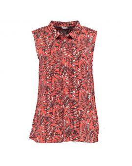 Dames blouse Roestbruin