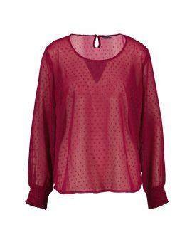 Dames blouse Bordeaux