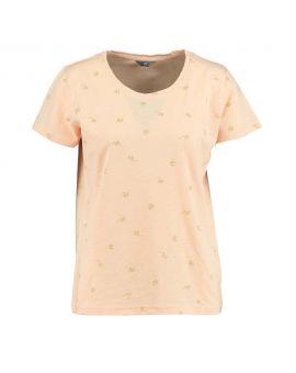 Dames T-shirt Zalm