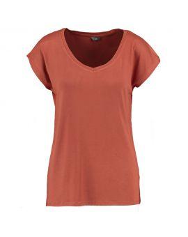 Dames T-shirt Roestbruin