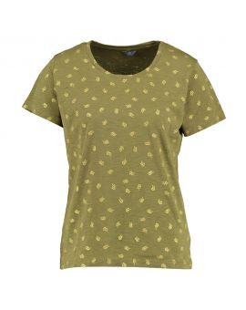 Dames T-shirt Legergroen