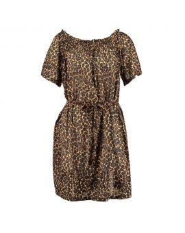 Dames jurk Bruin