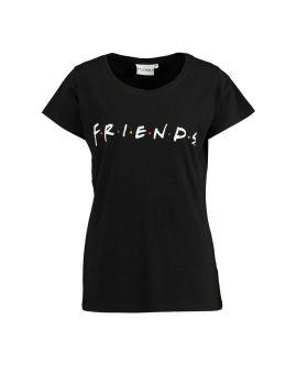 Friends Dames T-shirt Zwart