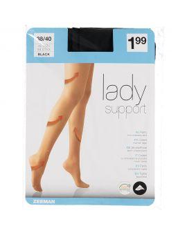 Lady Support panty Zwart