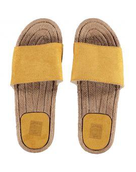 Dames slippers Okergeel