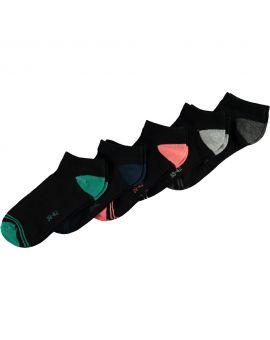 Heren sneakersokken Zwart