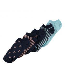 Heren sneakersokken Blauw