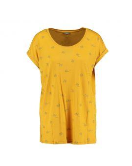 Dames T-shirt Geel