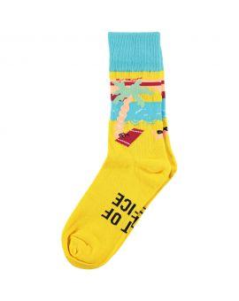 Heren fun sokken Geel