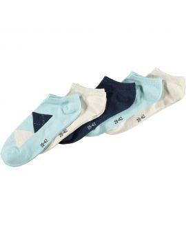 Dames sneakersokken Blauw