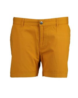 Dames short Okergeel