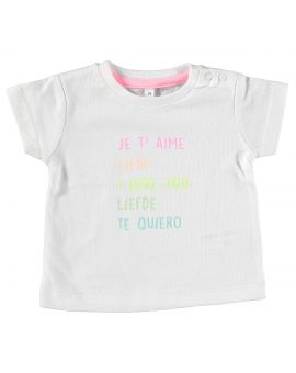 Just Born meisjes T-shirt Wit