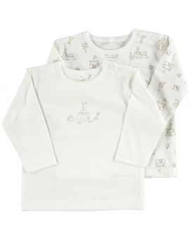 Newborn T-shirt Wit