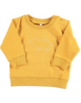 Newborn sweater Geel