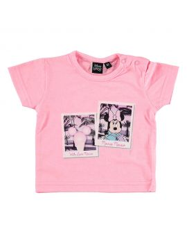 Minnie Newborn T-shirt Roze