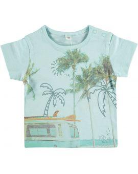 Newborn jongens T-shirt Blauw