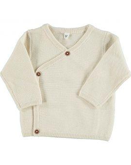 Newborn vest Gebroken wit