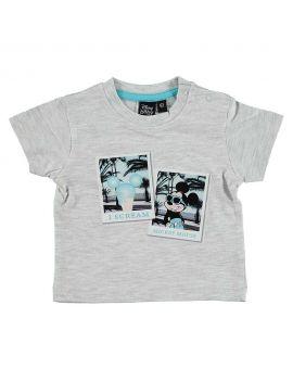 Mickey Newborn T-shirt Lichtgrijs