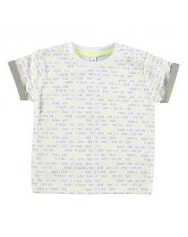 Just Born jongens T-shirt Wit