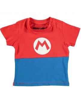 Super Mario Baby T-shirt Rood