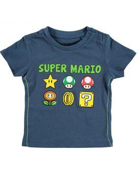 Super Mario Baby T-shirt Blauw