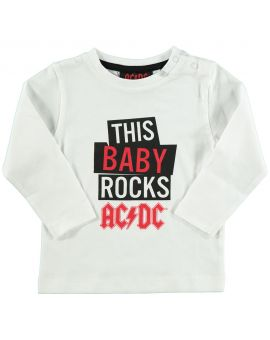 AC/DC Baby T-shirt Wit