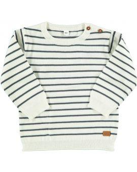 Baby jongens sweater Wit