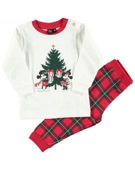 Mickey Baby pyjama Rood