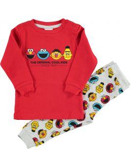 Sesamstraat Baby pyjama Rood