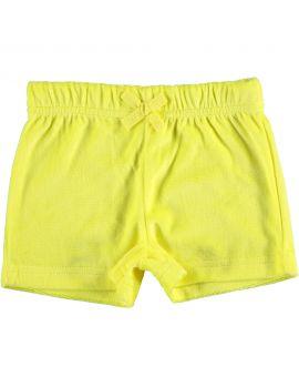 Kinder short Neon geel