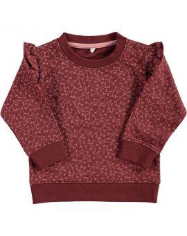 Baby meisjes sweater Bordeaux