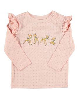 Bambi Baby T-shirt Roze
