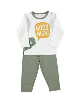 Baby pyjama Legergroen