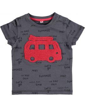 Baby jongens T-shirt Antraciet
