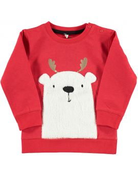 Baby sweater Rood