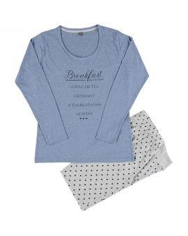 Dames pyjama Blauw