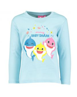 Baby shark Kinder T-shirt Babyblauw