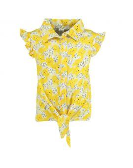 Meisjes blouse Geel