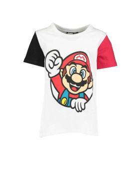 Super Mario Kinder T-shirt Wit