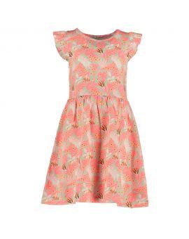Meisjes jurk Neon roze