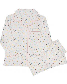 Meisjes flanel pyjama Wit