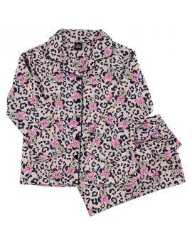 Marie Meisjes flanel pyjama Wit