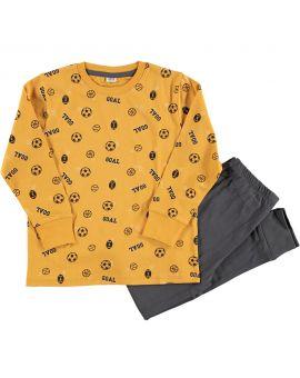 Jongens pyjama Geel