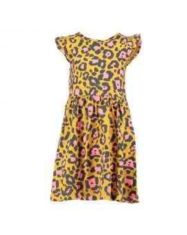 Meisjes jurk Okergeel