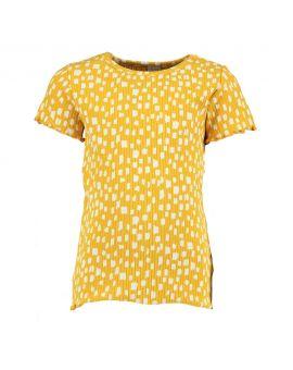 Meisjes T-shirt Okergeel