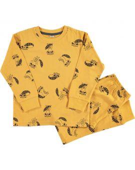 Jongens pyjama Okergeel