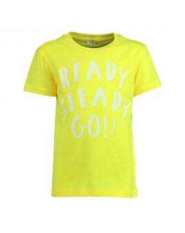 Kinder T-shirt Geel